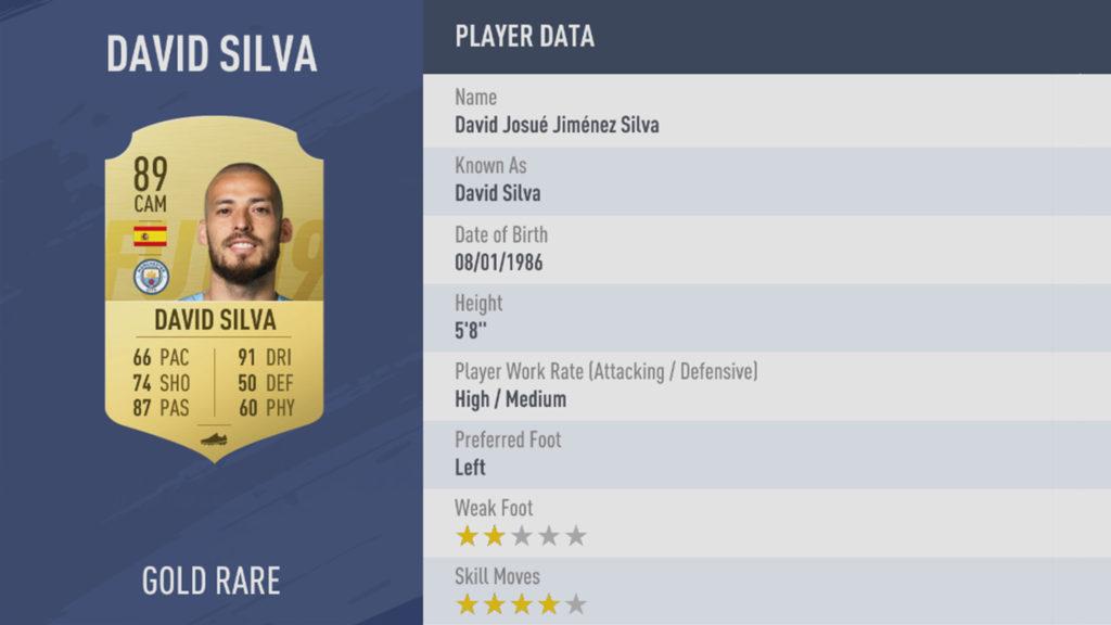 David Silva FIFA 19 rating mo salah fifa 19 rating