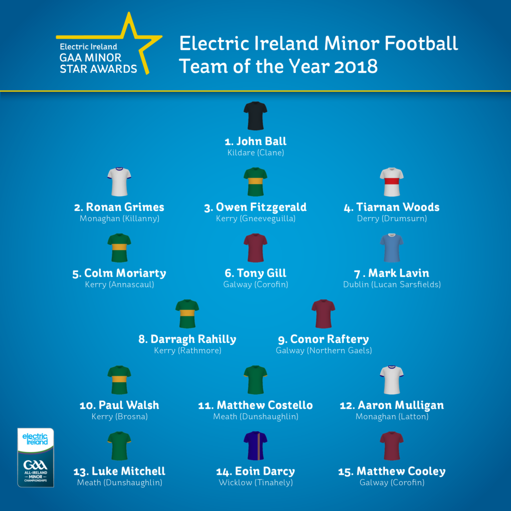 Electric Ireland football team of the year named