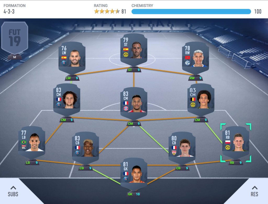 how to build ultimate team hybrid squad fifa 19