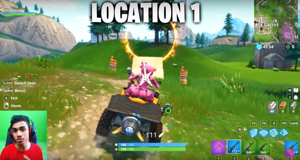 Where are the flaming hoops in Fortnite