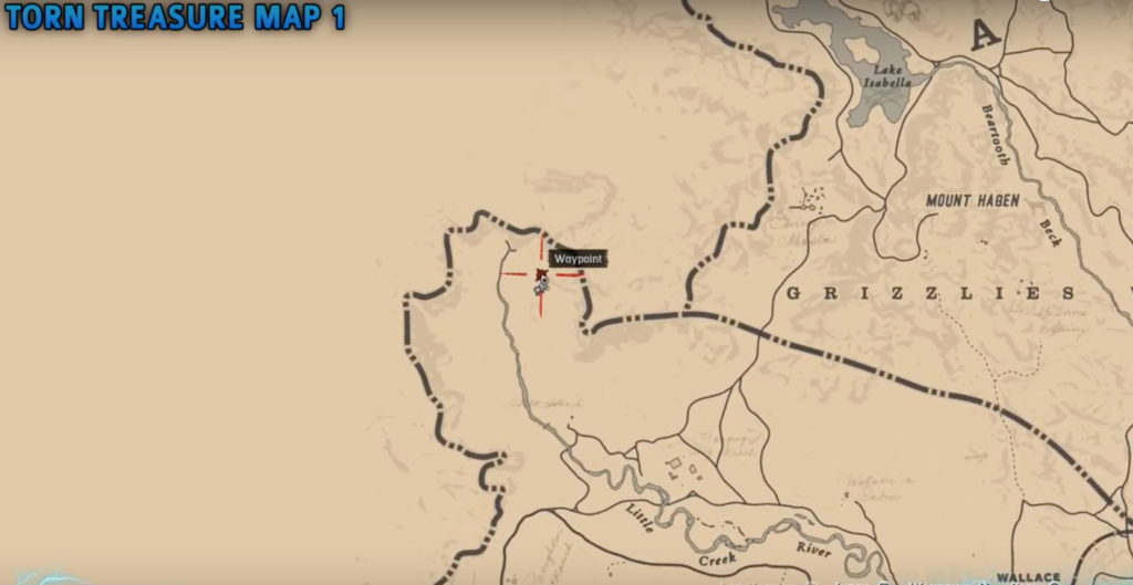 torn treasure map in Red dead redemption 2
