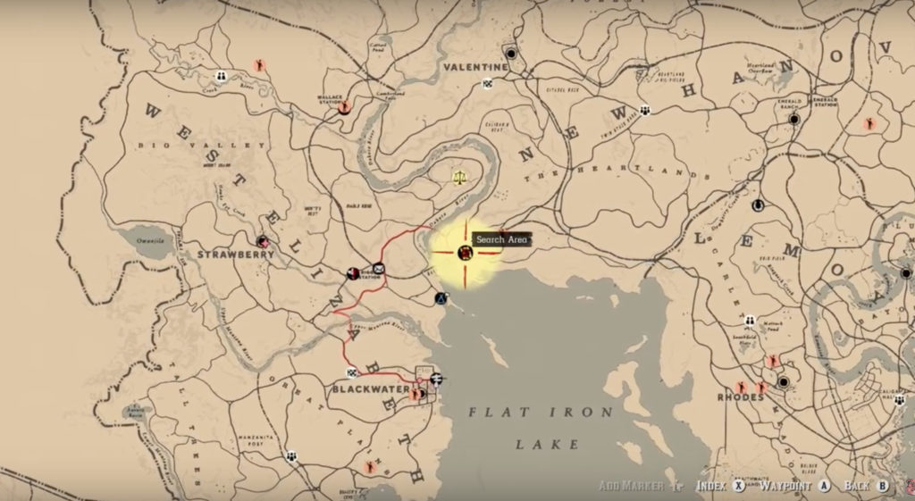 Red Dead Redemption Us Map.Solved Bard S Crossing Treasure Map In Red Dead Redemption 2 Online
