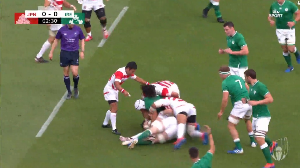 Ireland incorrectly penalised in stunning World Cup loss against Japan