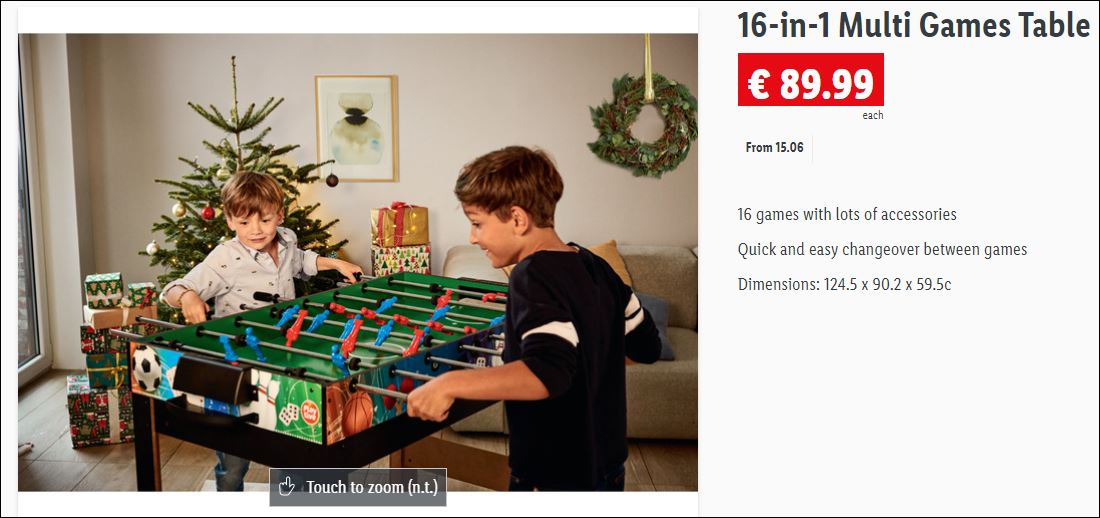 lidl game table