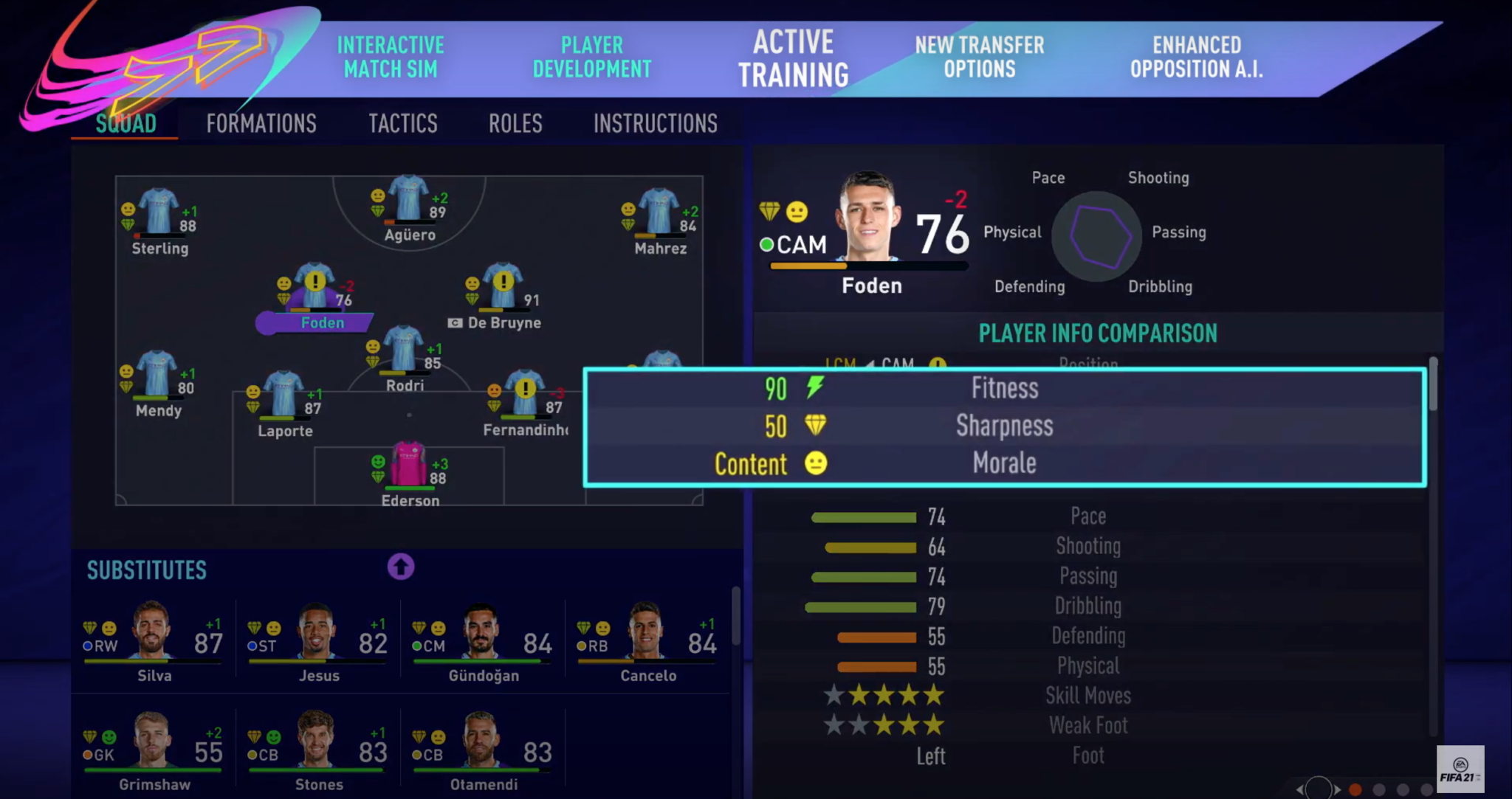 Federation Internationale de Football Association  21 players to have more freedom in Career Mode