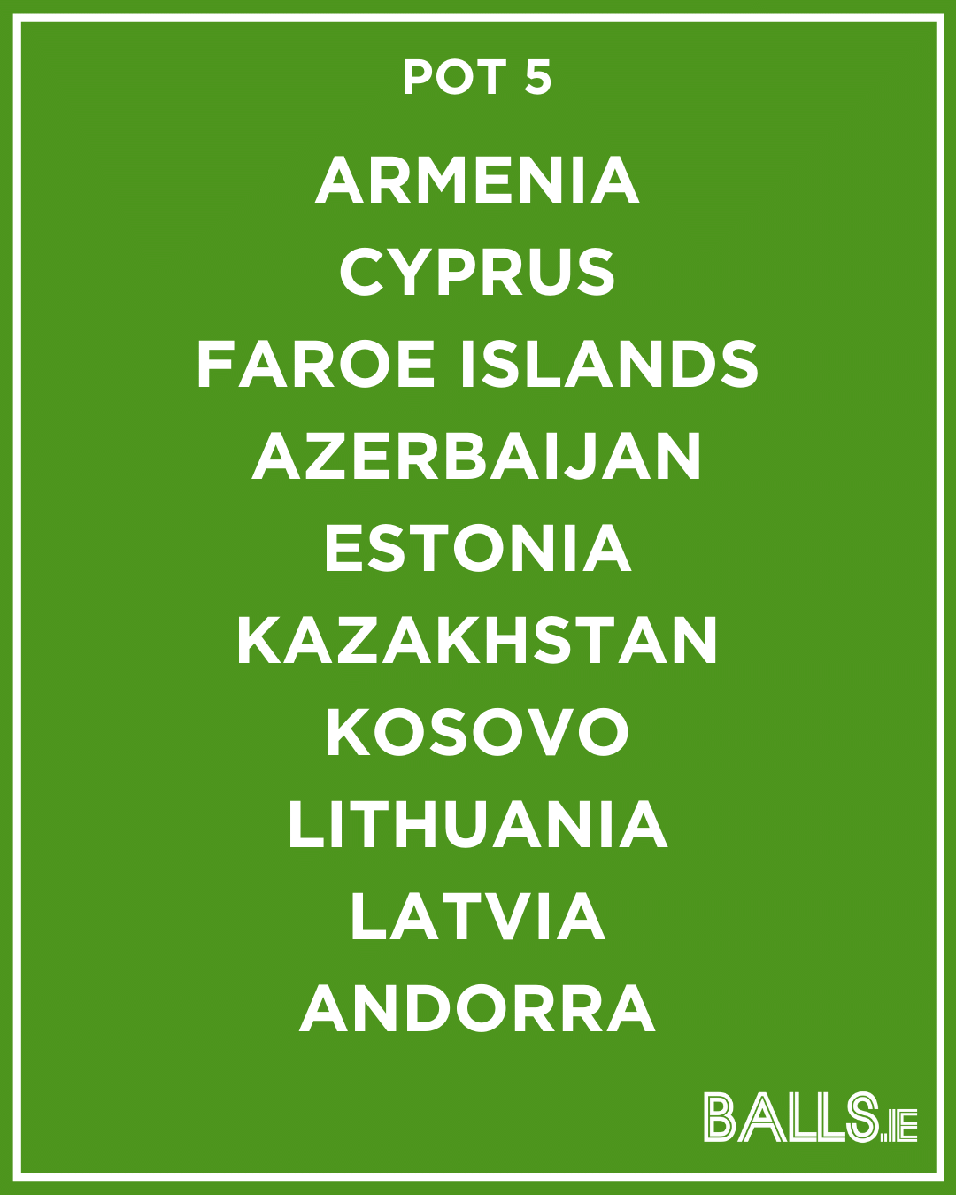 Ireland world cup group