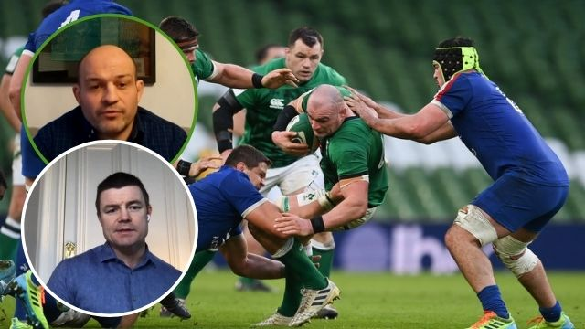 brian o'driscoll rory best ireland vs france 2021 six nations