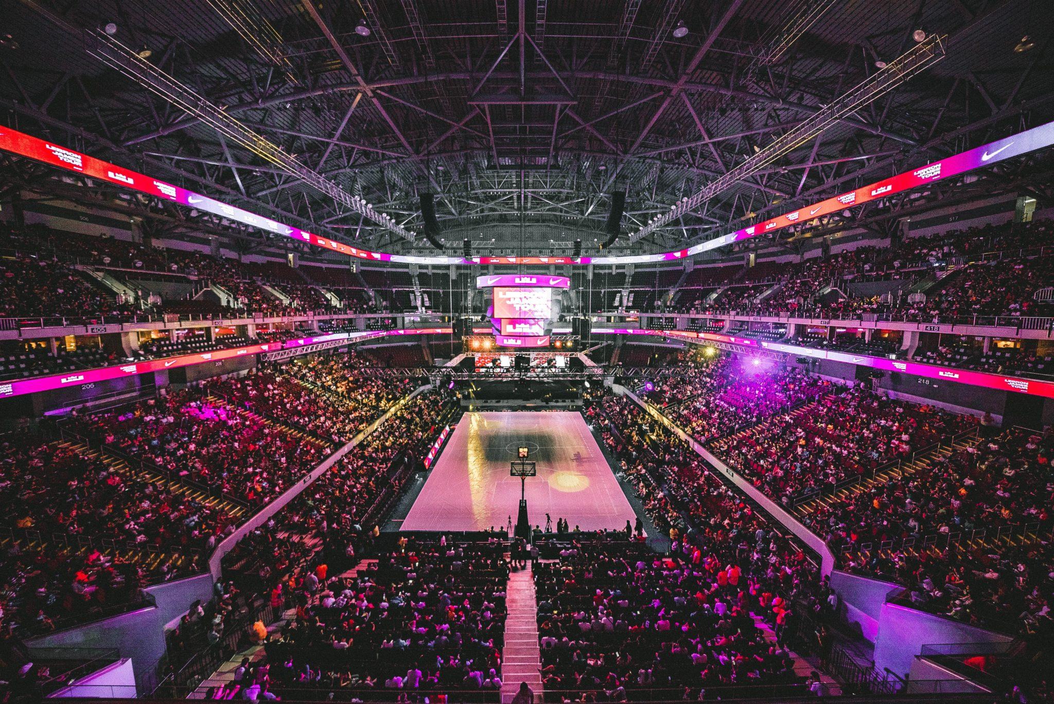 Random NBA Basketball Arena.