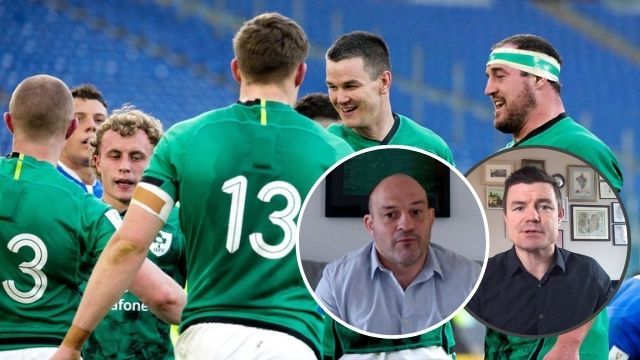 brian o'driscoll rory best italy ireland 2021 six nations