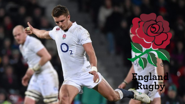 Rugby player Henry Slade playing for the England A team on their last visit to Ireland in January 2015.