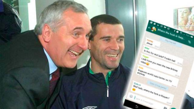 ireland world cup 2002 roy keane bertie ahern mick mccarthy