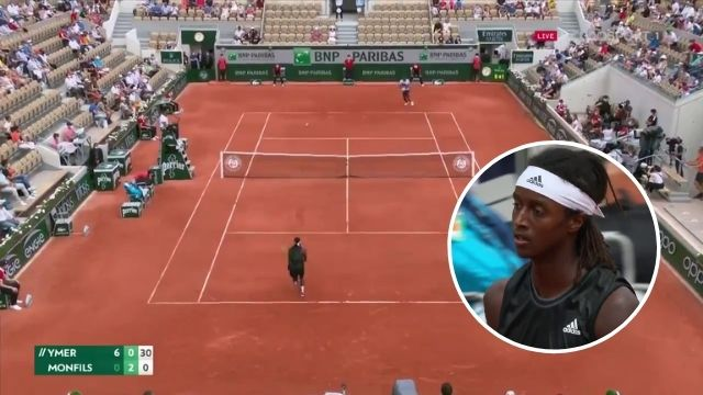 mikael ymer 33 shot rally gael monfils french open