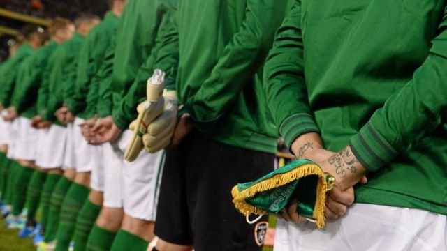 Ireland team Hungary