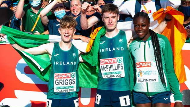 cian mcphillips rhasidat adeleke ireland interviews euro u20 championships