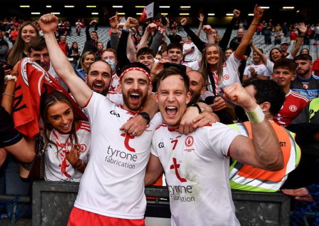 tyrone all-ireland final celebrations mayo 2021